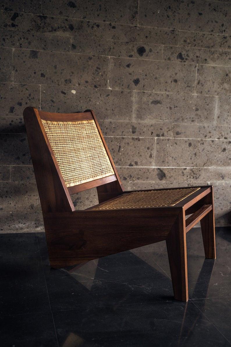 Teak wood Japandi style chair.