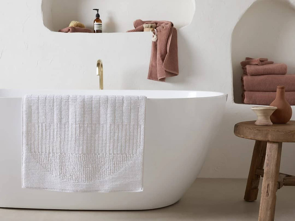 Home spa bathroom accessories, bathroom mat
