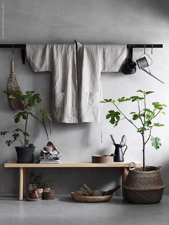 Japandi style entryway inspiration