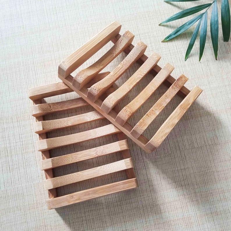 spa bathroom accessories - Natural Bamboo Soap Tray