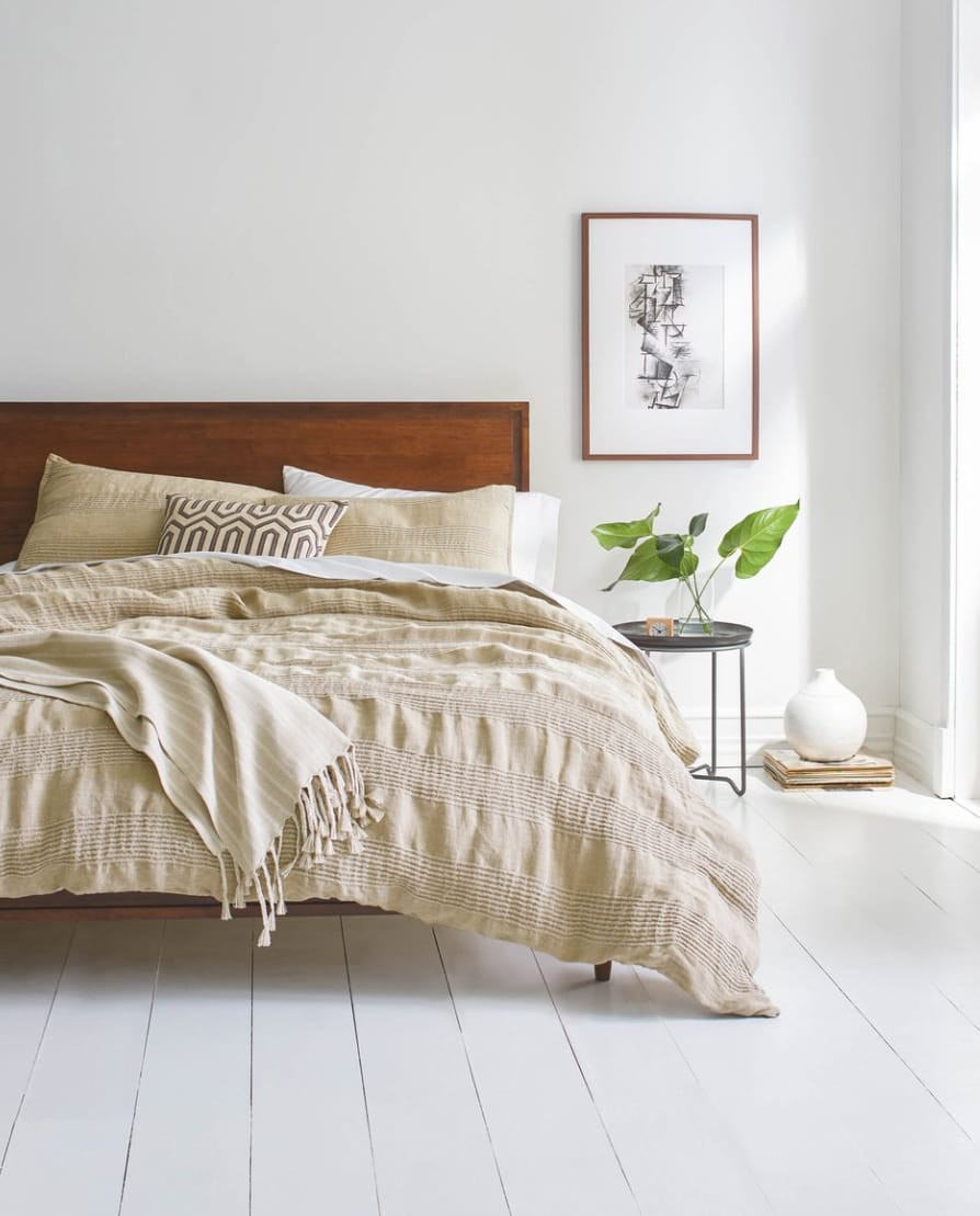Eco-friendly home decor brands, Threaded, making Eco Friendly bedding.