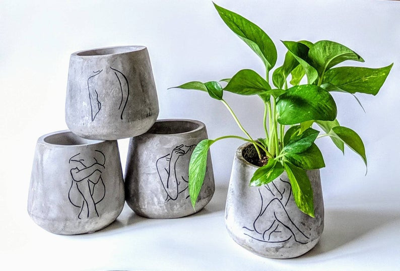 Cement handmade planter