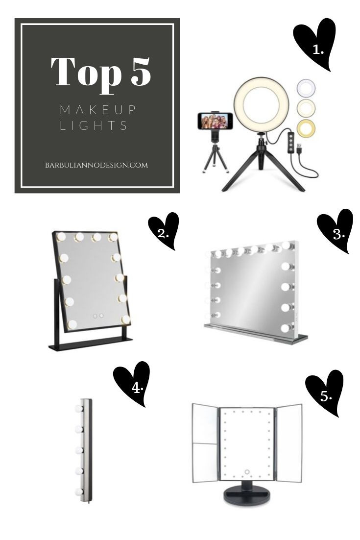 the best makeup lights for small spaces