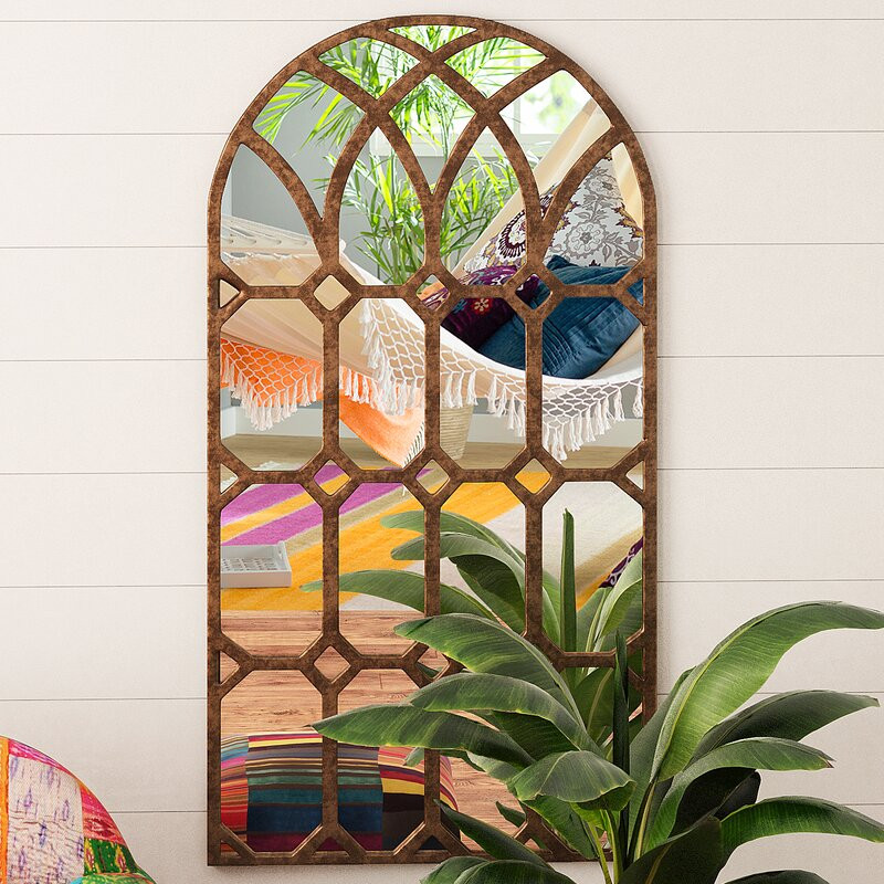Bohemian window mirror