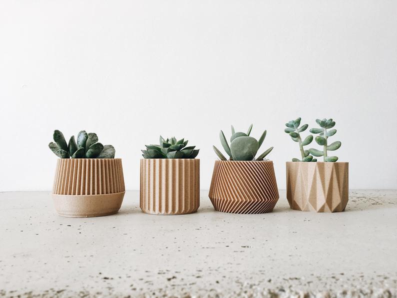 handmade indoor planters succulents