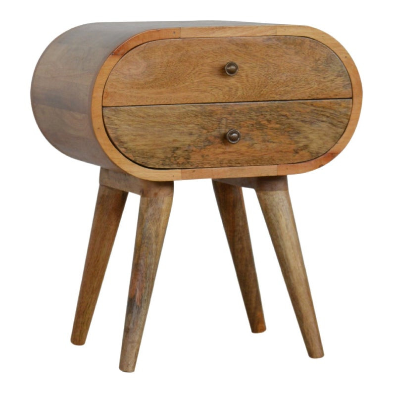 sustainable solid wood bedside table