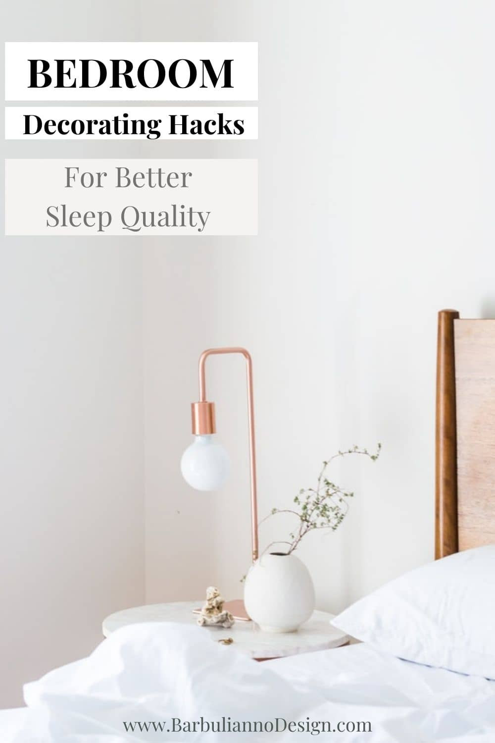 How to make bedroom perfect for sleep. Decorating hacks.