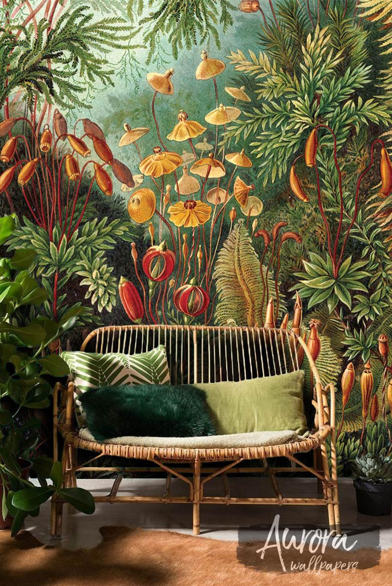 Biophilic Jungle-themed wallpaper