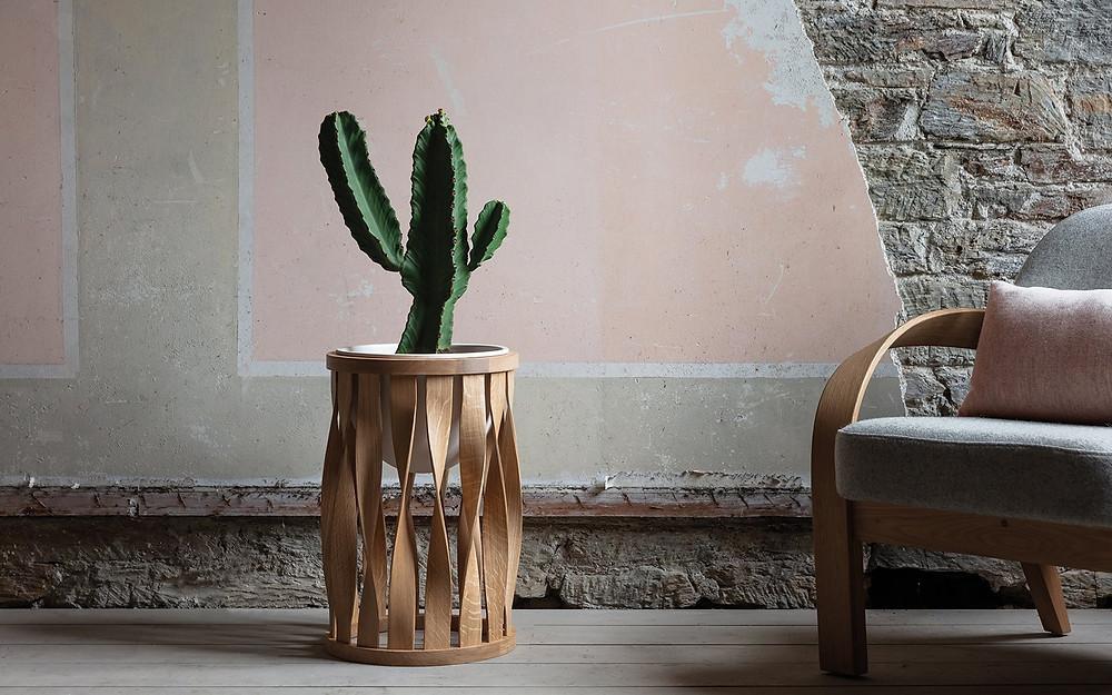 Minimalist Japandi style standing planter