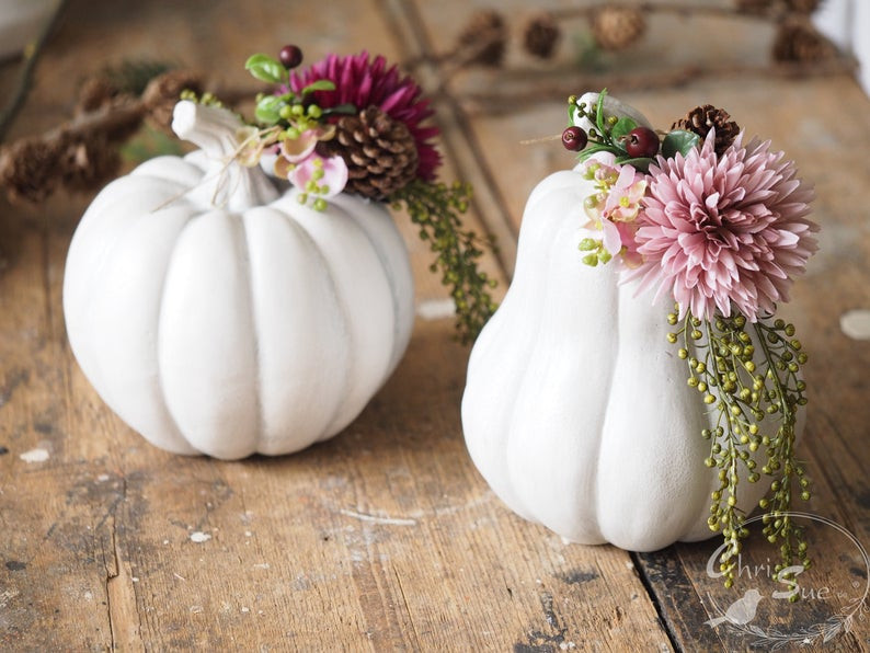 White Autumn Pumpkin