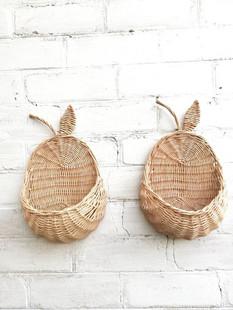 Wicker Wall Basket Set