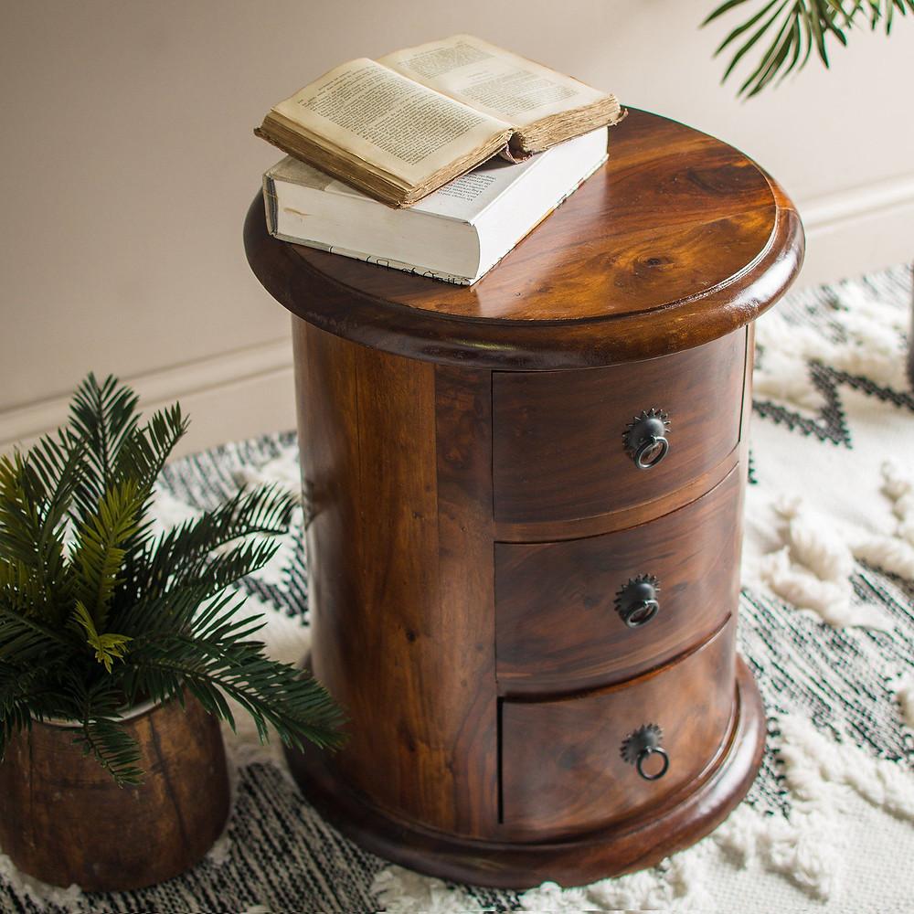 sustainabel furniture, rounded drawers by MYAKKA