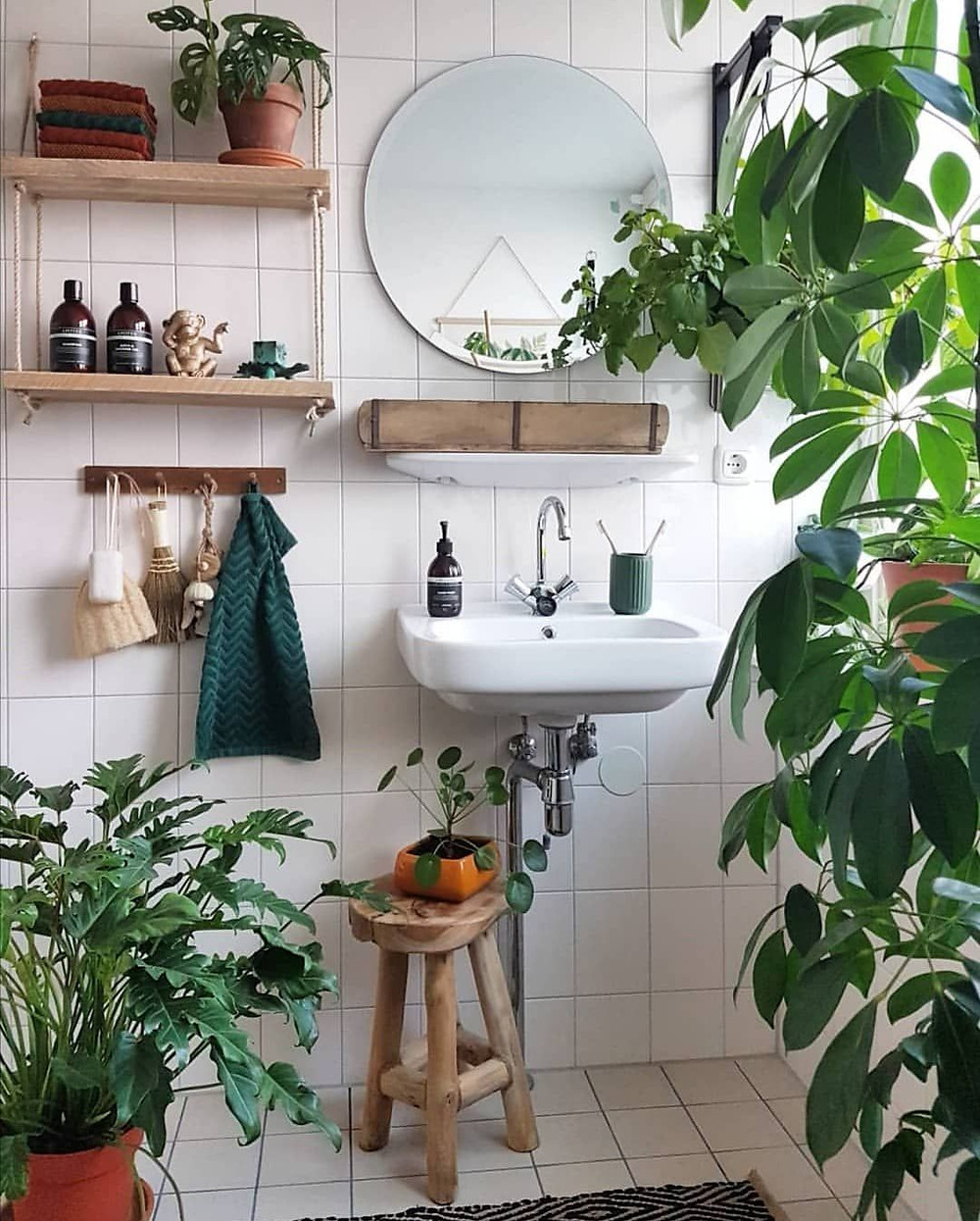 Incorporate plants into your bathroom and create a jungle.