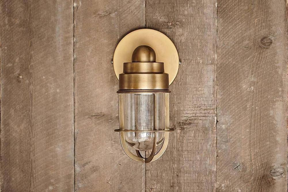 Brass Outdoor Light