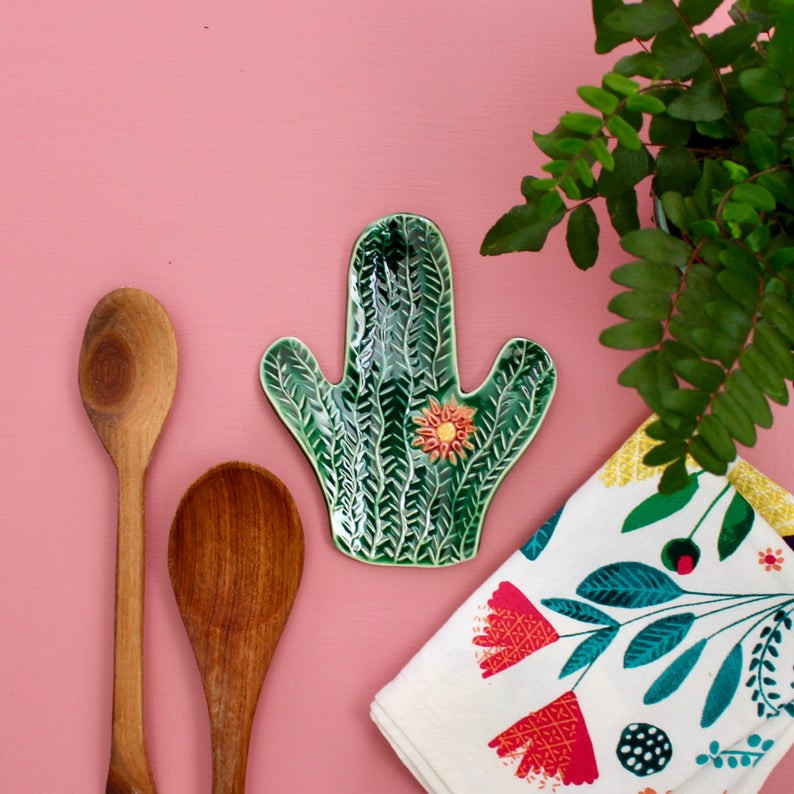Cactus Spoon Rest, perfect for autumn feast.