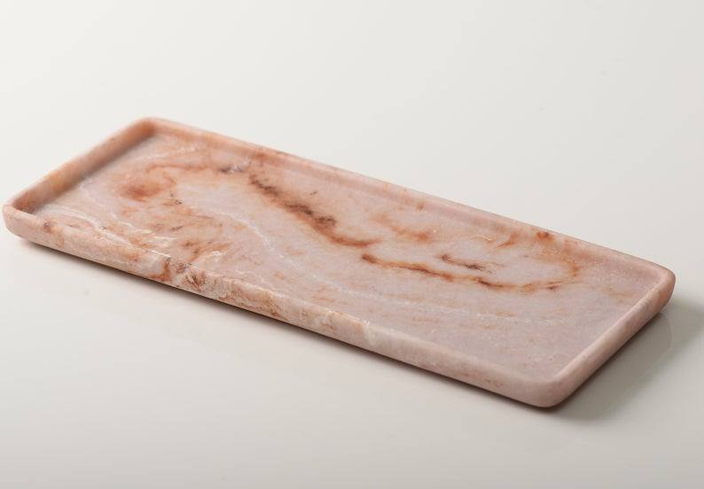 Marble tray, spa bathroom decor