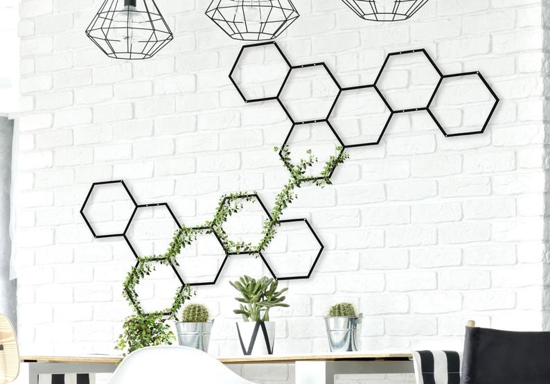 honeycomb wall hanging planter