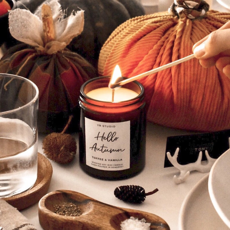 Hello Autumn candle