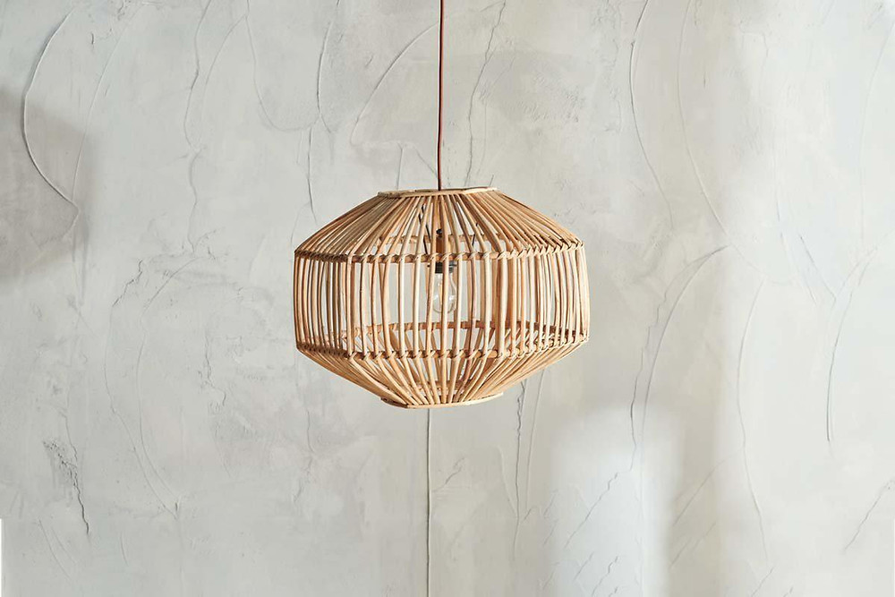 Spa bathroom decorative cane lampshade