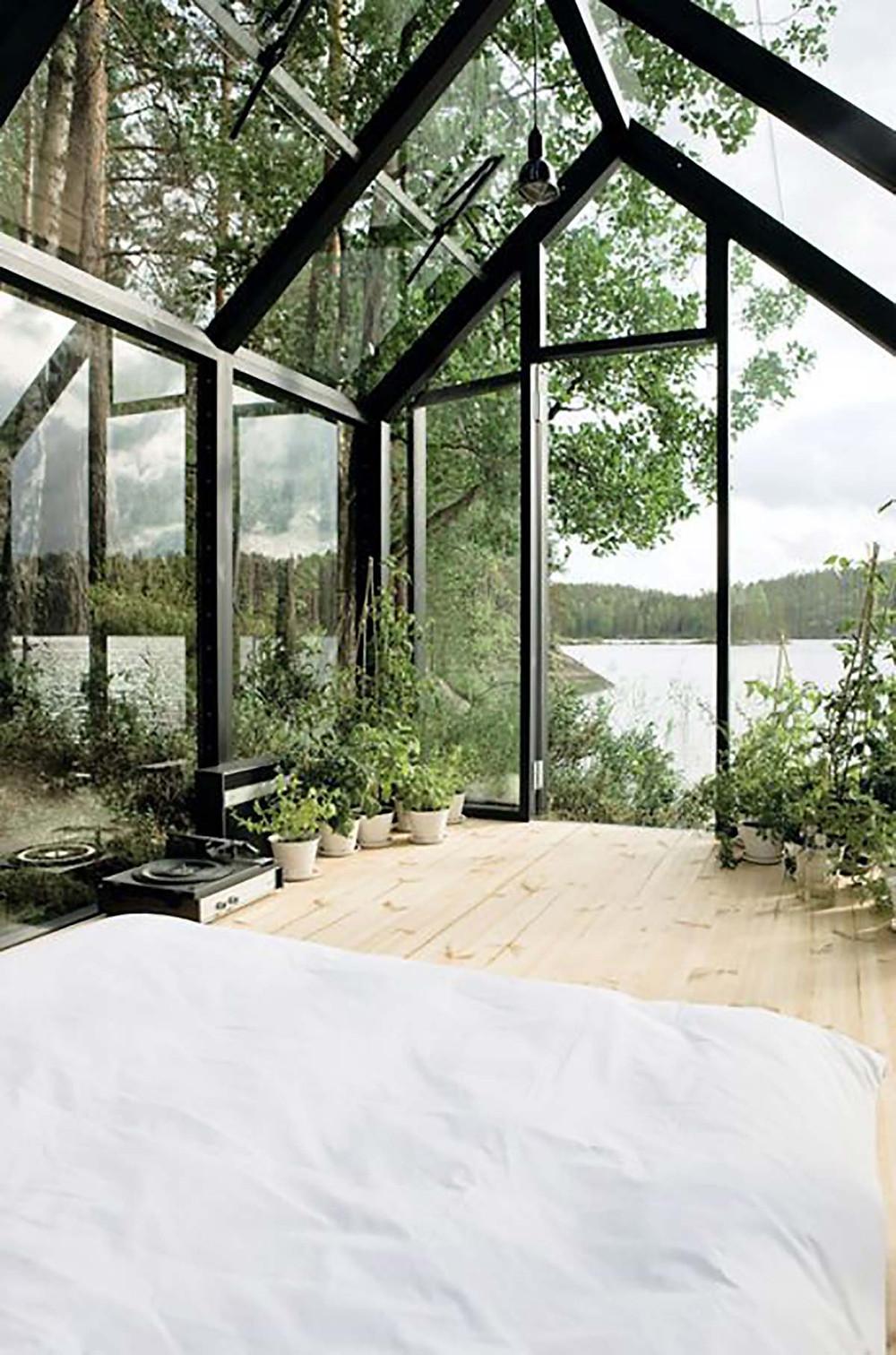 lake house plants decor biophilia