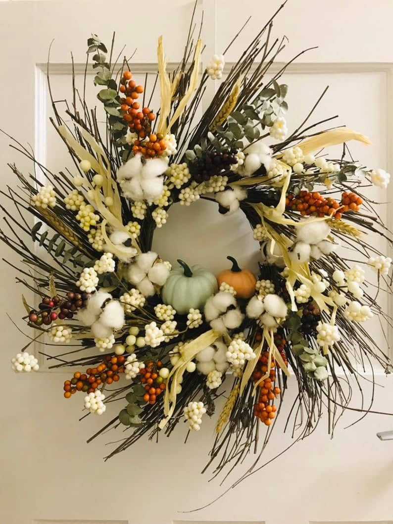 Large Natural Autumn Wreath