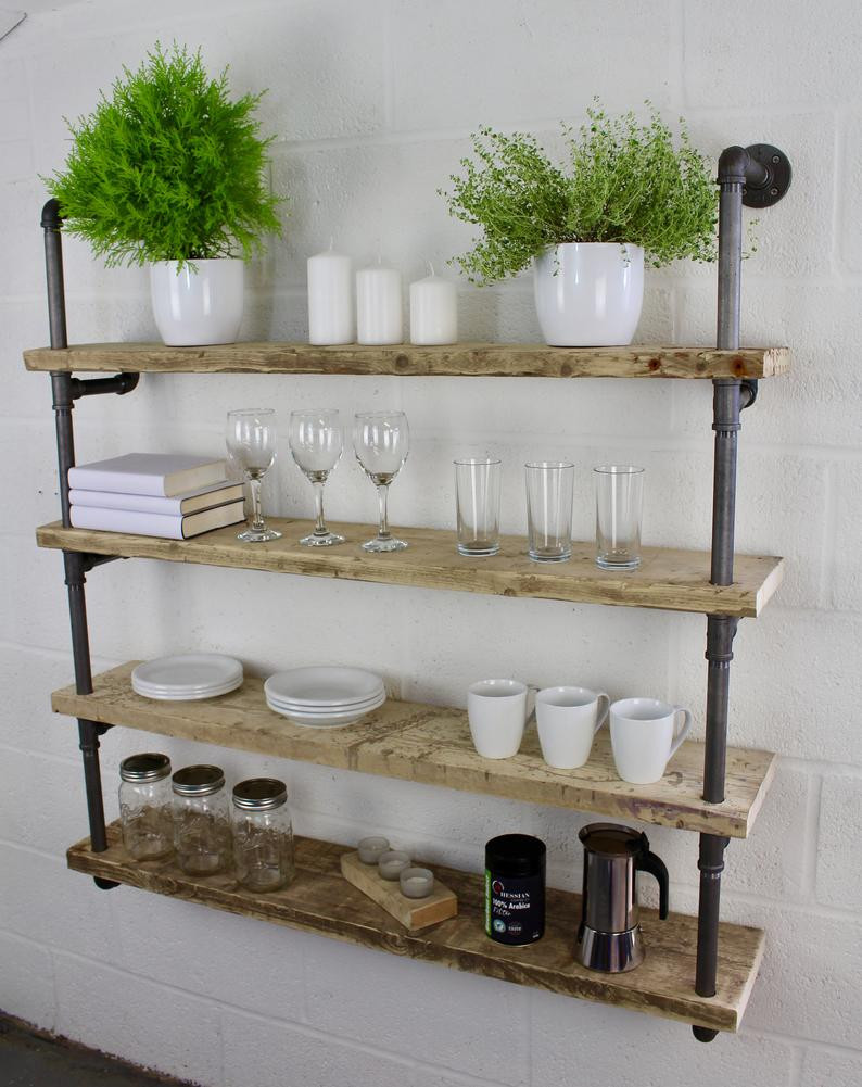 industrial style book shelf styling tips