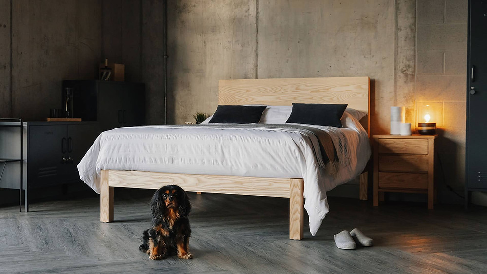 Sustainable timber bed frame by Natural Bed Company