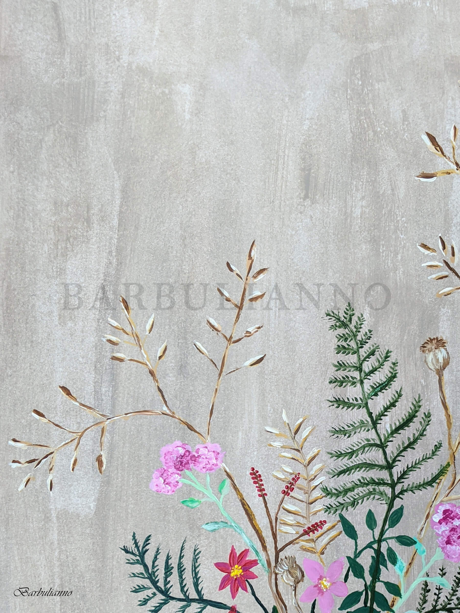 Wildflowers Wall Art _ Barbulianno Design
