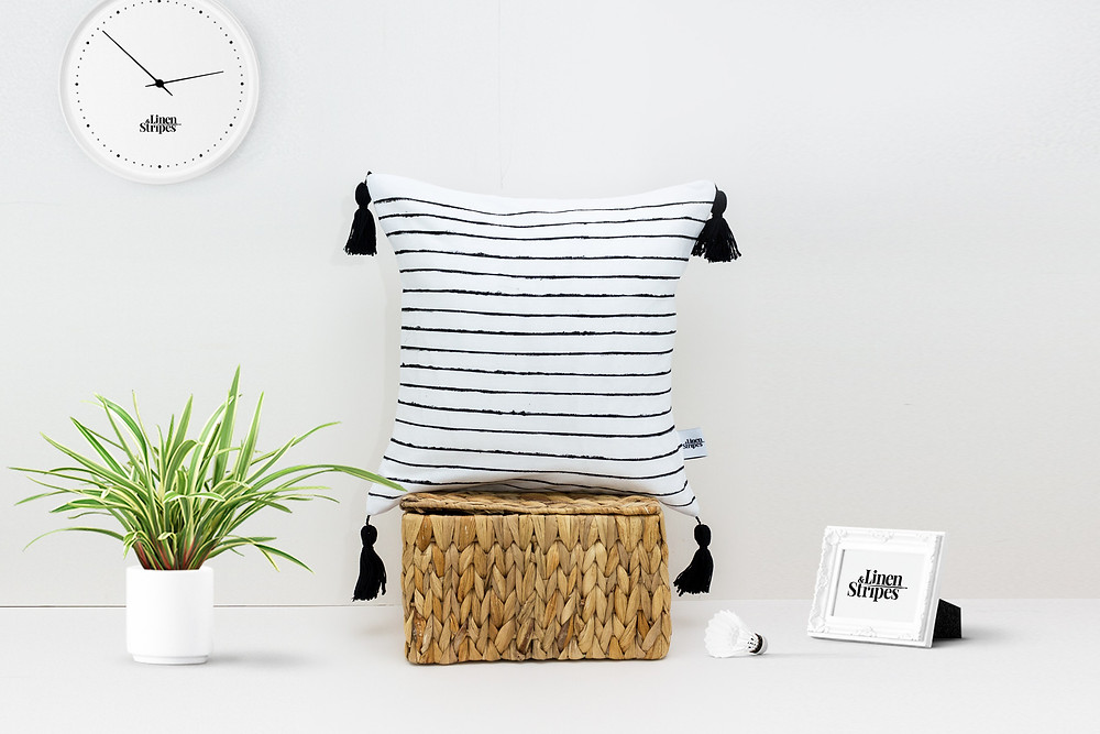 Eco Friendly home brands, Linen and Stripes. To shop Eco Friendly cushions directly from the maker click on the image.