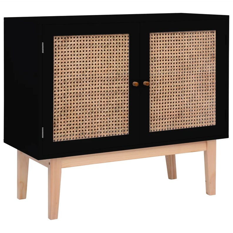 Rattan and timber side board. Click on the image to shop directly from the maker