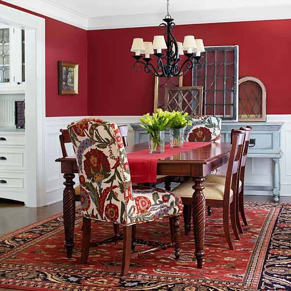 red dinning room decor