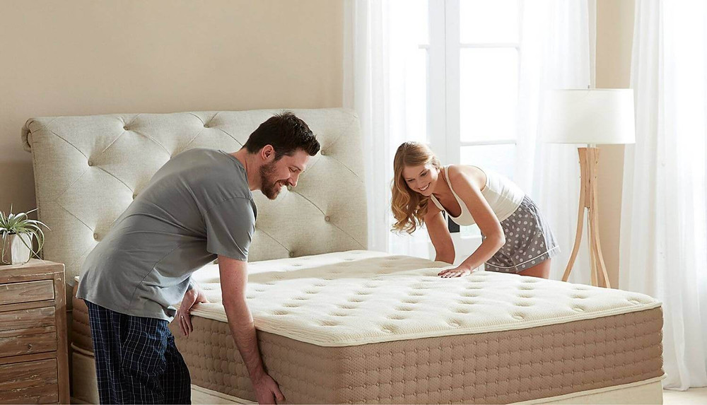 Organic natural mattress that doesn't cost the Earth. Click on the image to shop directly from the maker