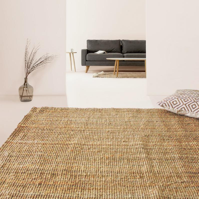 Natural jute rug, great add on to biophilic home office