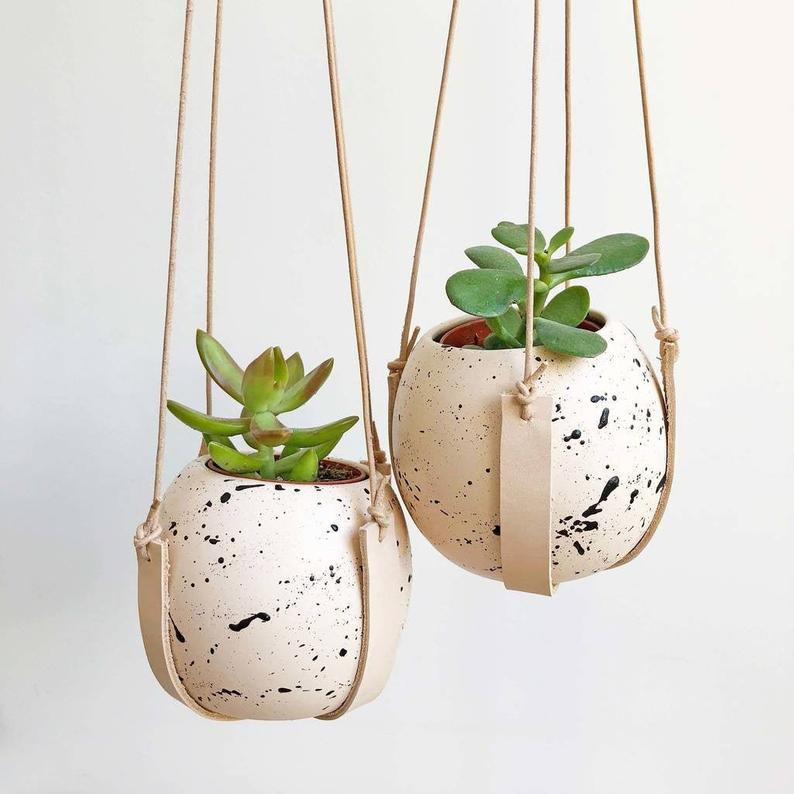 Round Splatter Plant Pot