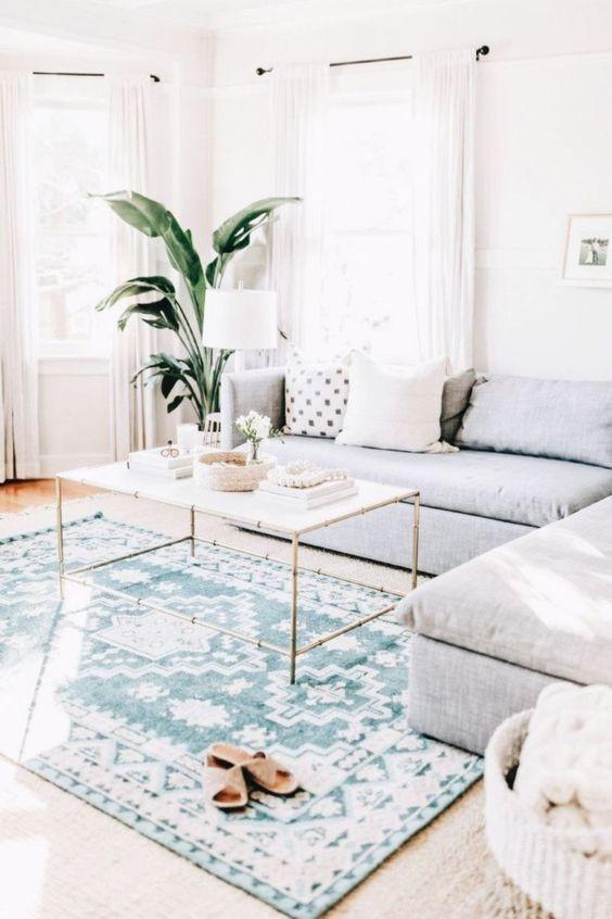 Boho living room style