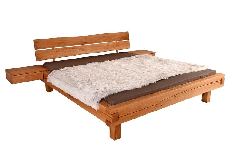 Japandi style furniture - wooden bed.