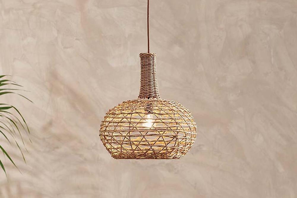 rattan ceiling lampshade