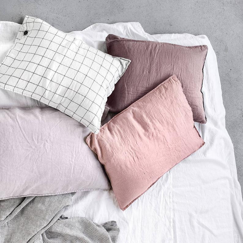 Handmade linen pillowcases by Not Perfect Linen. Click the image to shop