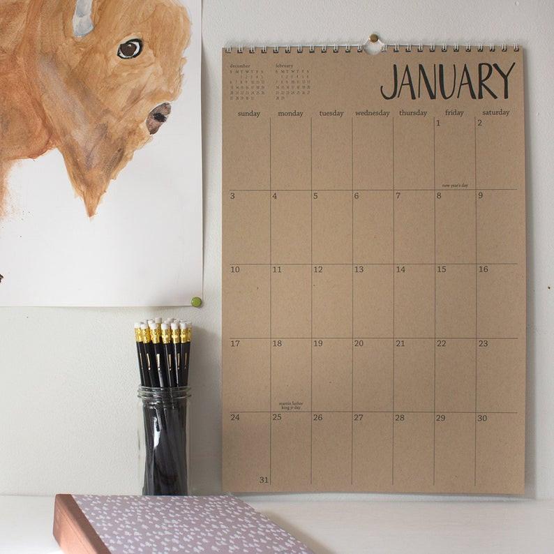 eco- friendly wall calendar