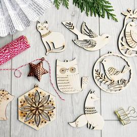 Wooden ornament eco friendly