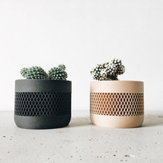 Set of 2 wood planters for succulent or