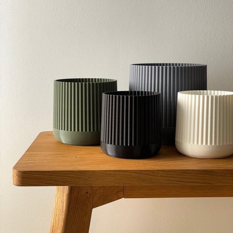 Japandi style plant pots