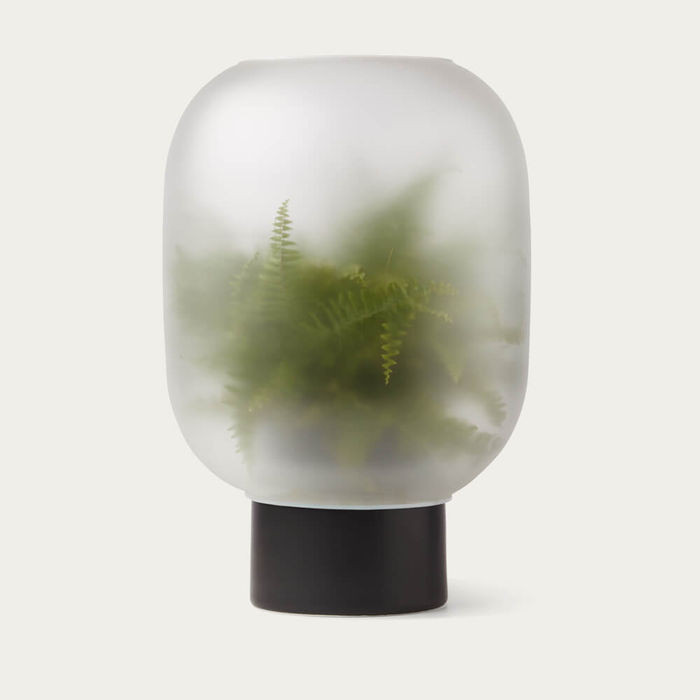 Spa bathroom decor - foggy planter.