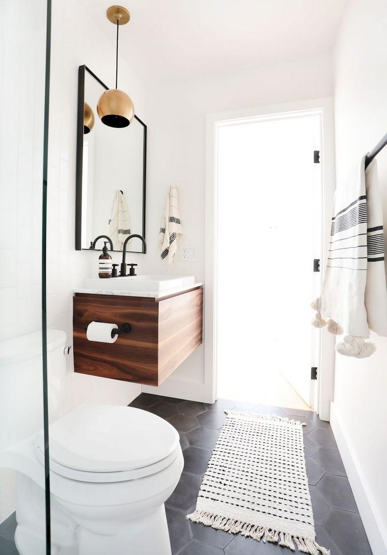 minimalist bathroom decor on a set budget by Barbulianno design