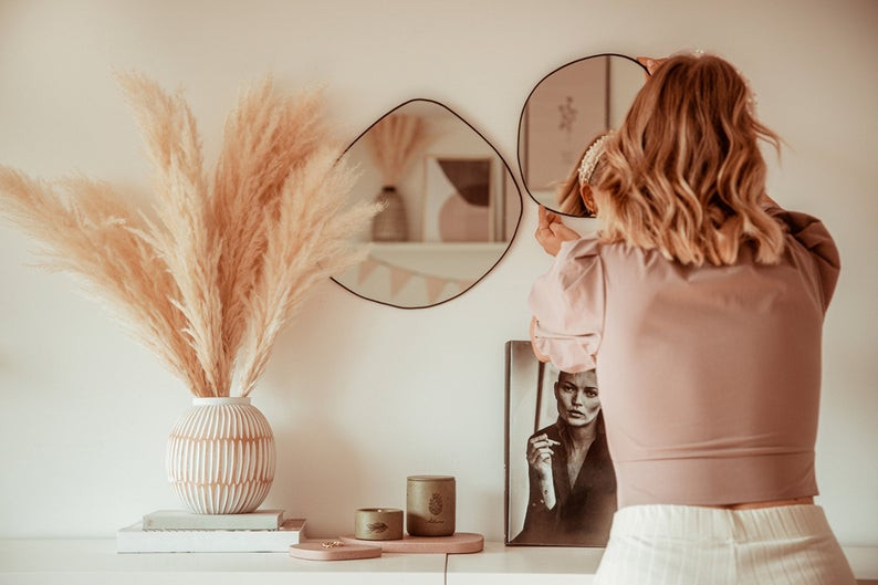 Ana Johnson x Etsy asymmetrical mirror