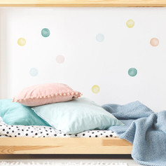Watercolour eco friendly wall stickers