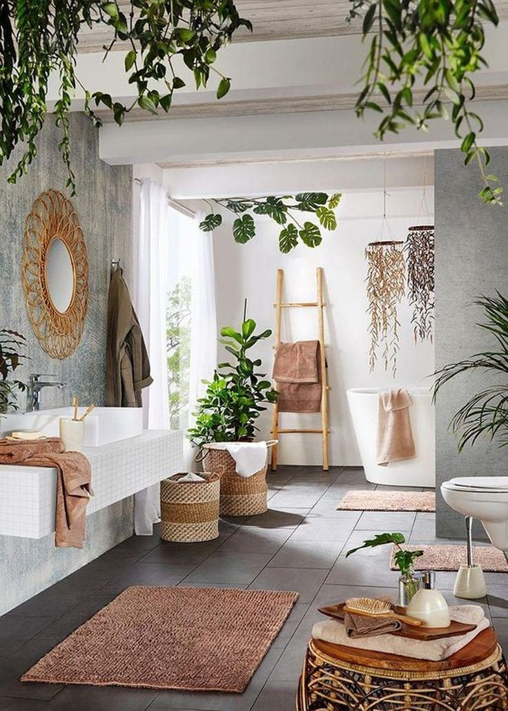 bohemian cosy bathroom inspiration
