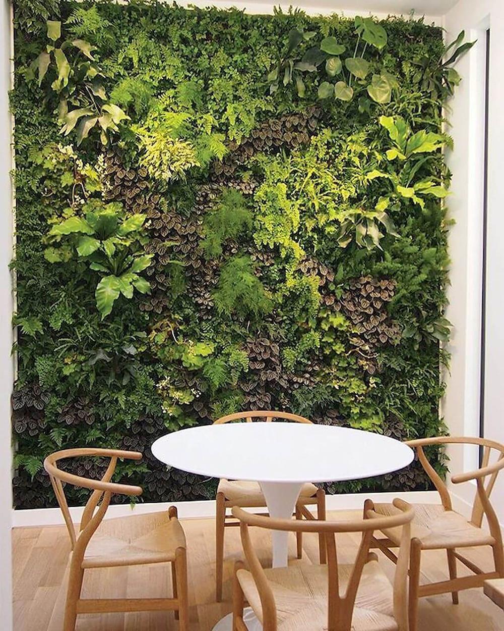indoor vertical gardening green wall inspiration