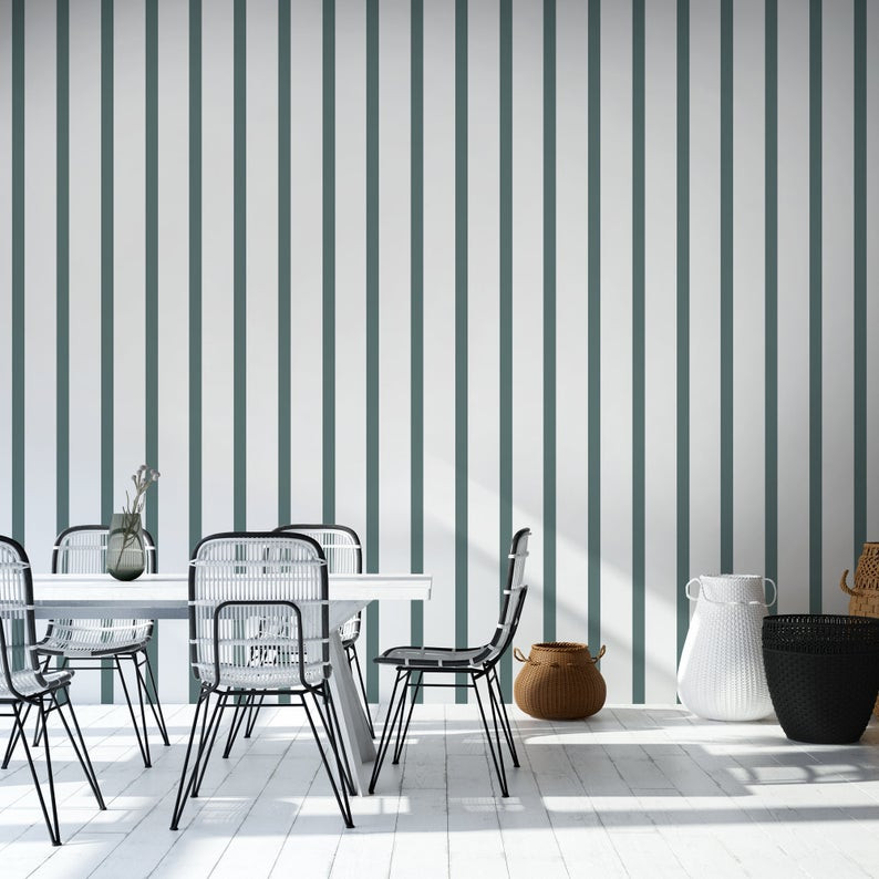 geometric vertical lines wallpaper decor ideas