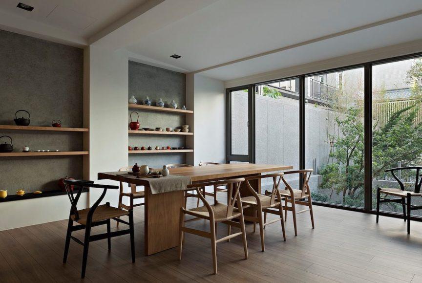 Japandi style wooden flooring